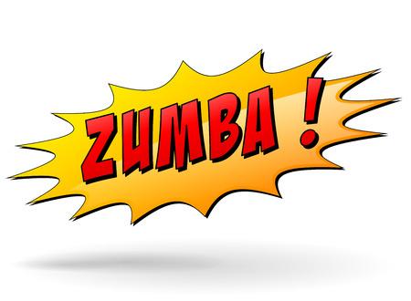 Vector illustration of zumba starburst icon concept