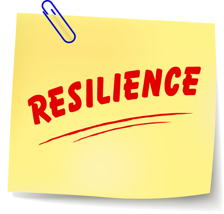 Vector illustration of resilience paper message on white background