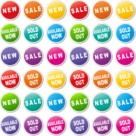Vector illustration of colorful tags for shop Vector