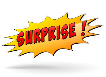 Vector illustration of surprise starburst icon on white background Vector