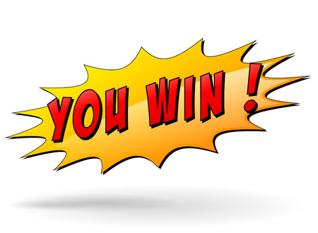 Vector illustration of winner starburst icon on white background