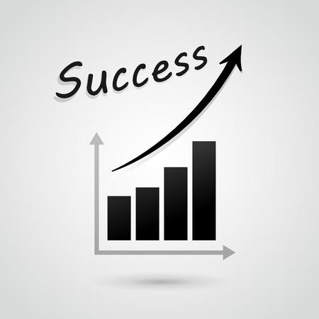 financial success: Vektor-Illustration der finanziellen Erfolg Graph Konzept