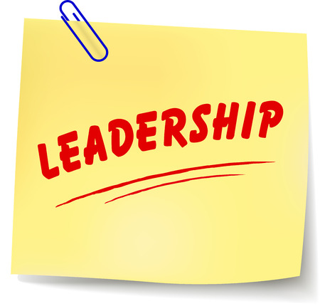 Vector illustration of leadership paper message on white background Vector