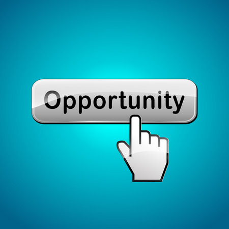 opportunity concept: Vector illustration of opportunity web button concept