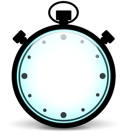 Vector illustration of blank stopwatch on white background