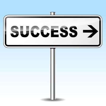 Vector illustration of success arrow sign concept Vector
