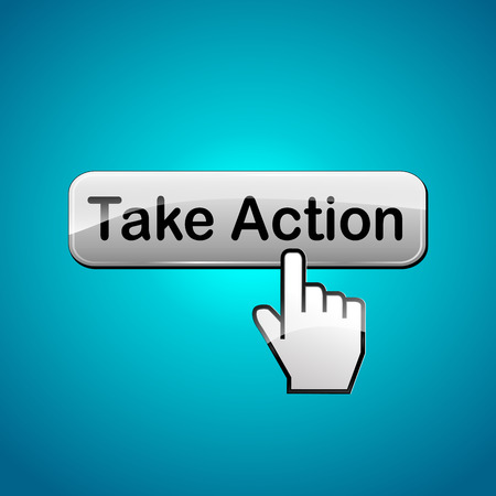 take action: Vector illustration of take action web button concept
