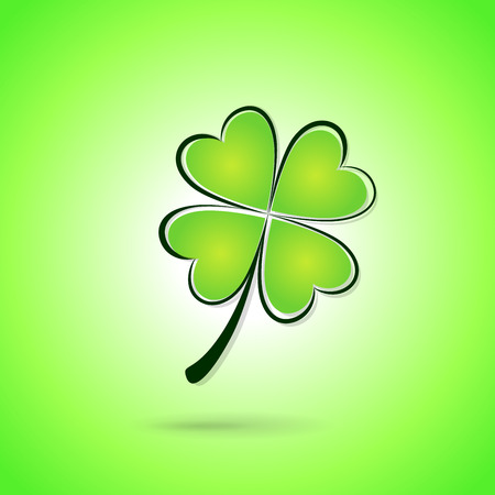 Vector illustration of green clover background concept Vector