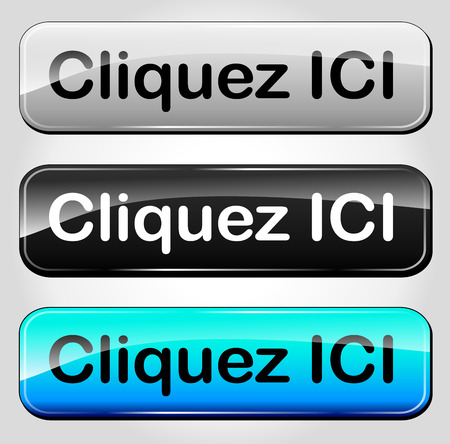 French translation for set of click here web button