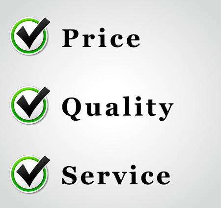 better price: Vector illustration of best price quality and service