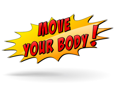 Vector illustration of move your body yellow star icon concept Ilustração
