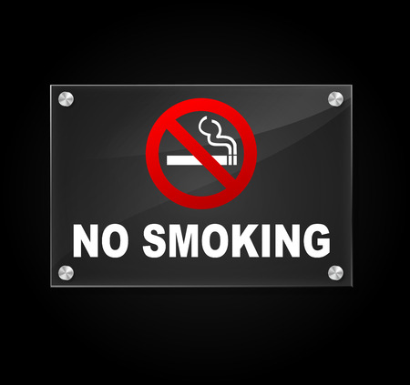Vector illustration of transparent no smoking sign on white background Vector