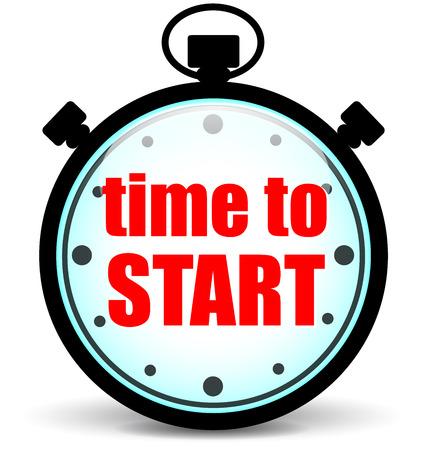 chronometer: Vector illustration of chronometer for time to start concept