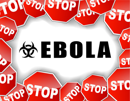 infection prevention: Vector illustration of stop ebola virus epidemic concept