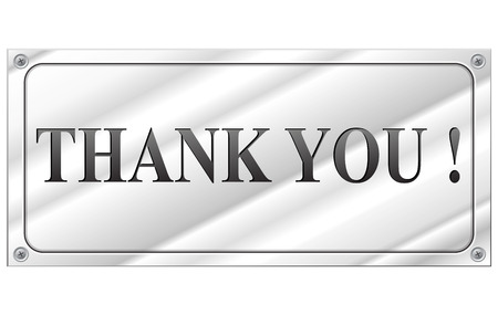 metal sign: Vector illustration of thank you metal sign concept Illustration