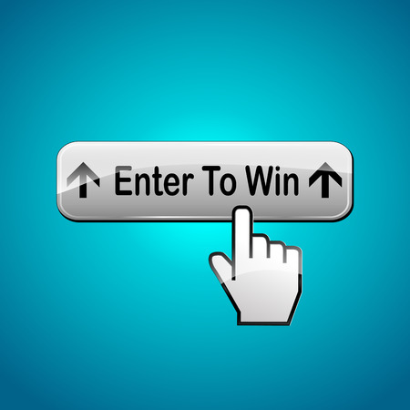 lottery win: Vector illustration of enter to win abstract concept web button