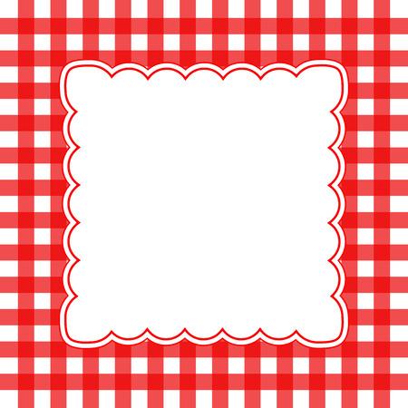 blanco: Ilustración del vector del concepto del fondo de cuadros rojos y blancos