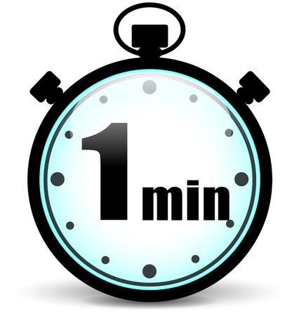 cronometro: Ilustraci�n vectorial de un minuto y el concepto de signo cron�metro