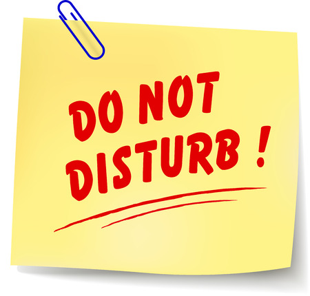 do not disturb: Vector illustration of do not disturb paper message Illustration