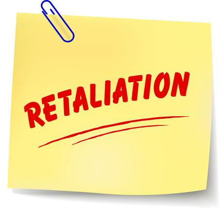 Vector illustration of retaliation paper message on white background