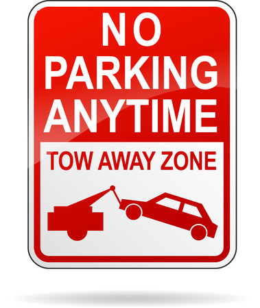 no parking: Vector illustration of no parking anytime sign on white background