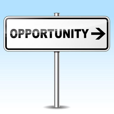 opportunity: Vector illustration of opportunity design sign on white background Illustration