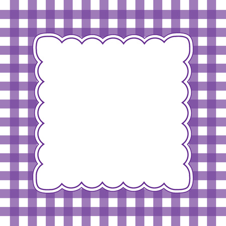 Vector illustration of purple and white gingham background concept Vector