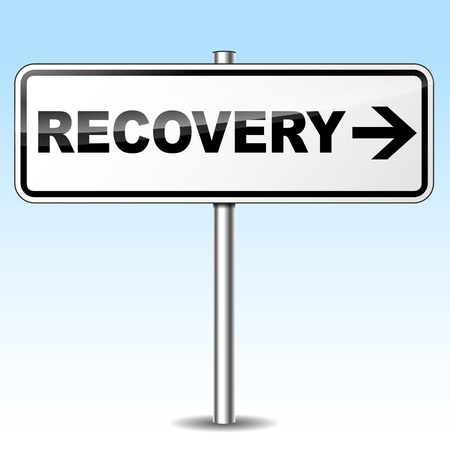 Vector illustration of recovery design sign on white background Vector