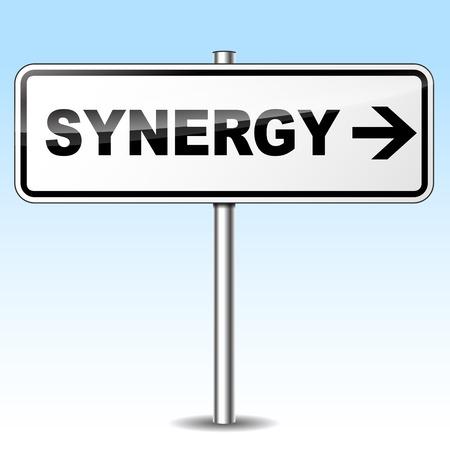 synergie: Vektor-Illustration von Synergie Design Zeichen auf wei�em Hintergrund Illustration