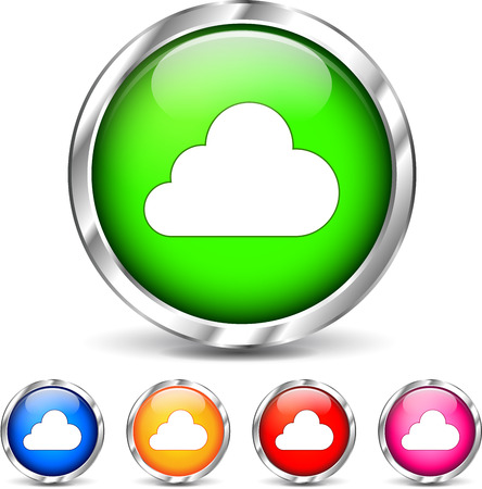 alu: Illustration of cloud icons set on white background