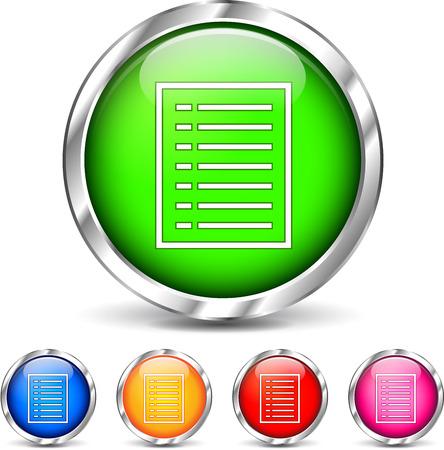 Illustration of document icons set on white background