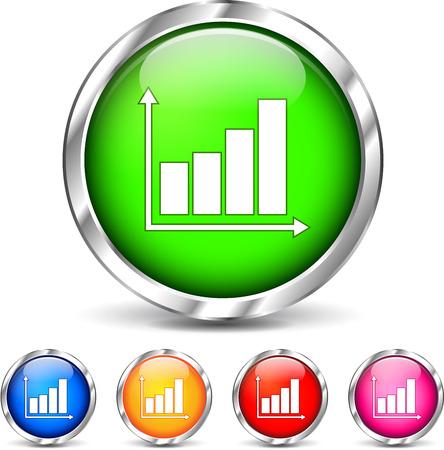 Illustration of graph icons set on white background