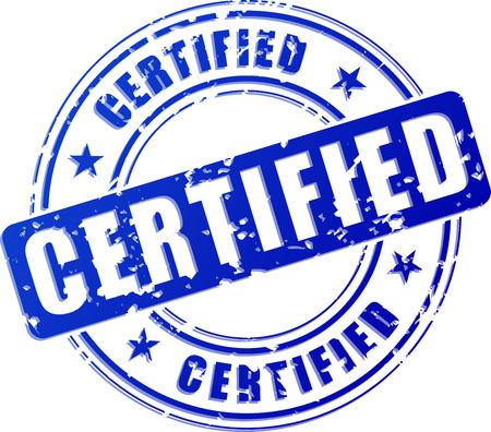 흰색 배경에 파란색 스탬프의 그림