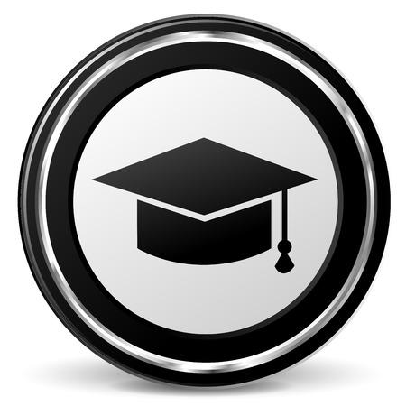 university students: Illustration of education icon on white background