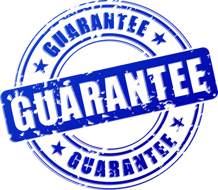 Illustration of guarantee blue stamp on white background Vector