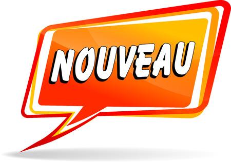 french translation for new orange design speech Illustration