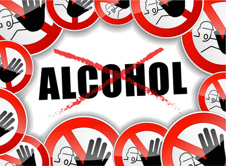 illustration of no alcohol abstract concept symbol