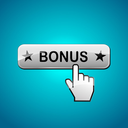 additional compensation: illustration of bonus web button abstract concept Illustration