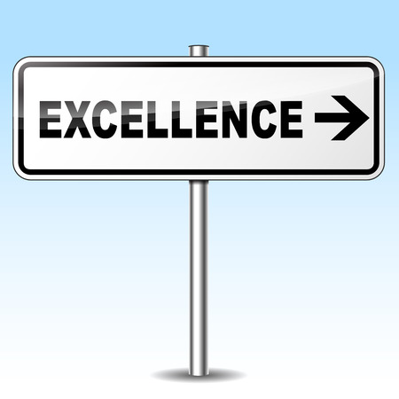 virtue: Illustration of excellence sign on sky background