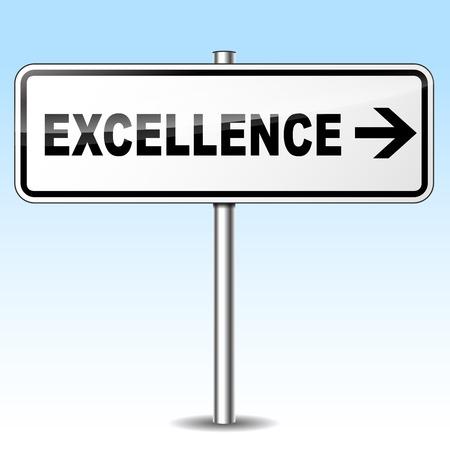 eminence: Illustration of excellence sign on sky background