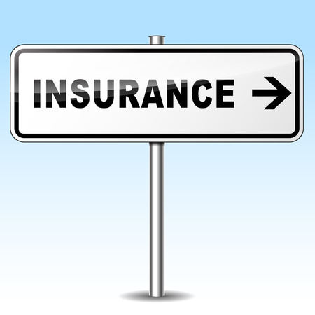 Illustration of insurance sign on sky background Vector
