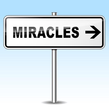 milagros: Ilustraci�n de milagros firmar en el fondo del cielo Vectores