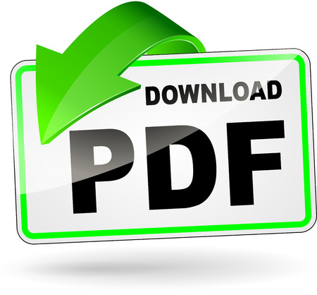 illustration of pdf download icon on white background Vector