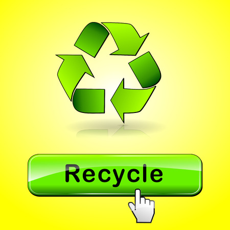 illustration of recycle web button abstract concept Vector