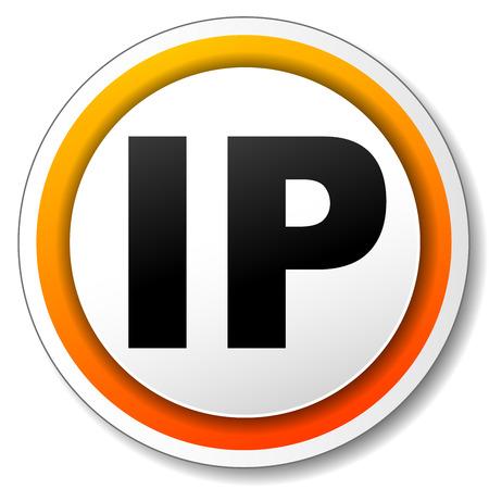 ip address: illustration of orange round icon for ip address