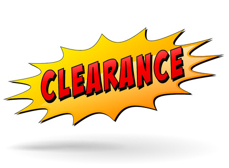 bomb price: illustration of clearance yellow star on white background