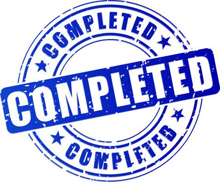 completato: illustrazione di icona bollino blu per completato