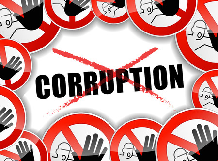 corruption: illustration of no corruption abstract concept background
