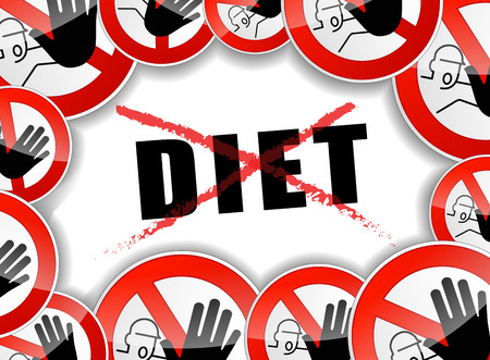illustration of no diet abstract concept background