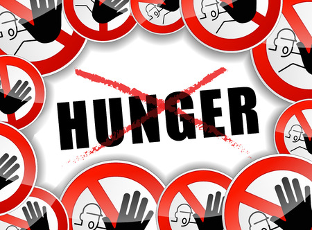 hunger: illustration of no hunger abstract concept background